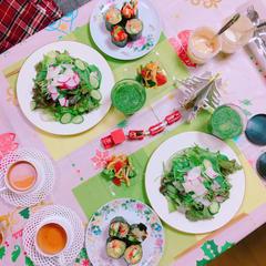 沢山の野菜を食べます!