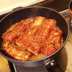 本格煮豚煮崩れ防止❣️難しい結び方も伝授いたします♪