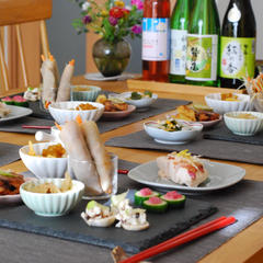 日本酒の会「うち呑みご飯」。わしの尾4銘柄の飲み比べ!!