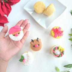 マシュマロフォンダントのミニカップケーキ(^^)