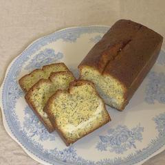 レモンポピーシードクリームチーズパウンドケーキのレッスン。