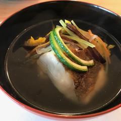 真鯛沢煮椀もその場でお召し上がり頂きました。