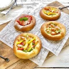 春ピザレッスン。カスタードのデザートピザが好評でした!