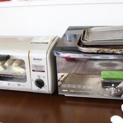 オーブントースターを使用してパンを焼きます♪