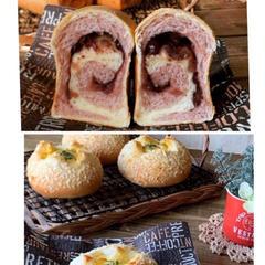 【1月2種類】 たまごボールと紅芋あずきロール