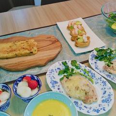 初春の薬膳。 おひな祭り。バター不使用ケークサレ