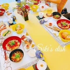 19年10月日本料理クラス 会食の様子です。