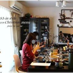 昨年のクリスマスメニューのときの様子です。
