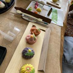 出来上がりですの和菓子です。綺麗に出来ましたね!