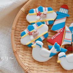 マリンアイシングクッキー