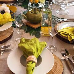 四季折々のテーブルプレゼンテーションは毎回好評です。