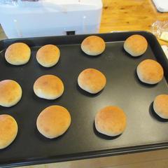 丸パンが焼きあがりました
