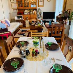 シフォンケーキレッスンのテーブルコーディネート