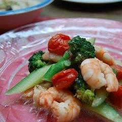 海老の温野菜サラダ