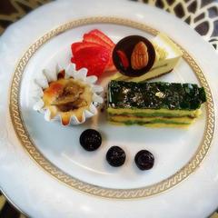 抹茶と蜜柑のローオペラレッスン スイーツプレート