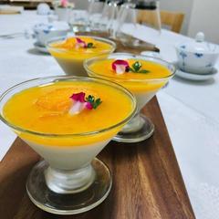 薬膳と発酵食が初めての方レッスンのデザート甘酒ミルクプリン