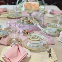 紅茶レッスンのテーブルセッティング