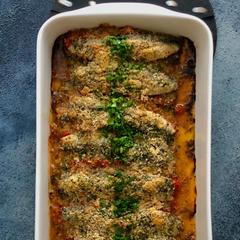 いわしのシチリア風トマトソースグラタン