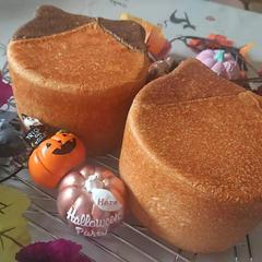 ハロウィンレッスンの猫パン