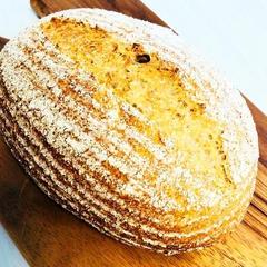 オーガニックふすまと有機全粒粉のパン