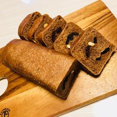 カカオ80%オーガニックチョコレートと有機ナッツのパン