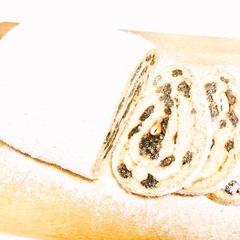 全粒粉9割シュトーレン。粉糖なしで食物繊維豊富な有機食材使用
