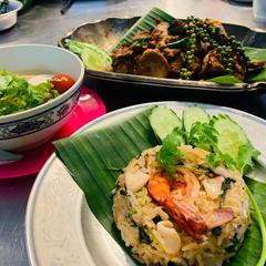 7月サラデーンタイ料理教室@東中野カオパッパッキーマオ