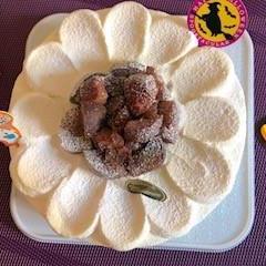 栗のショートケーキのレッスン。ハロウィーン仕様です。