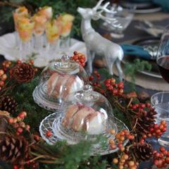 クリスマスレッスンの華やかなテーブル