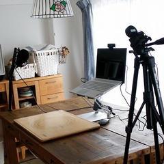 正面からのWebカメラと手元のカメラ二台設置中^^