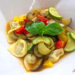 生パスタ『トルテッリ』と夏野菜のソース