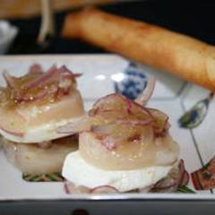 モッツァレラチーズ・帆立の前菜 2種