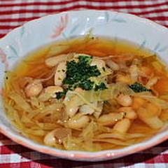 春キャベツと白いんげん豆のスープ