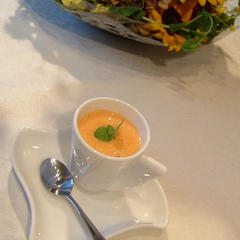 柿のデザートスープ