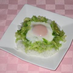 キャベ卵丼