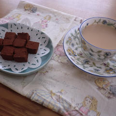生チョコレートとミルクティ