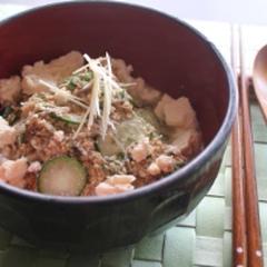 ふわふわくずし豆腐とじゃこの冷汁