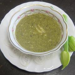 長葱のクリームスープ