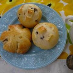 くるみパン&クリームチーズ入りレーズンパン