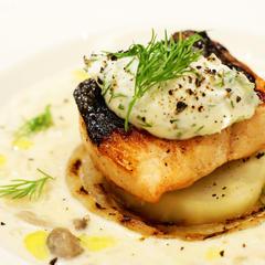 鮭と焼き野菜のマスカルポーネスープ ディル風味