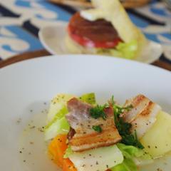 塩豚と春野菜のスープ