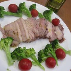 豚バラブロック肉でイタリアン風塩釜焼き