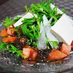 もずくとトマトの食べドレ和風サラダ