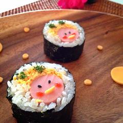 節分に♪鬼ちゃん巻き寿司♡