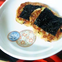 つぼみ菜とキムチの有明焼き