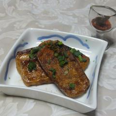 豆腐のホットオードブル メープルソース