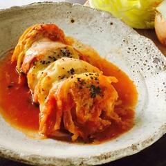 トマト仕立てのロールキャベツ