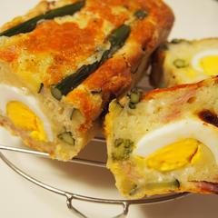 春野菜と茹で卵のケークサレ