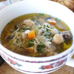 ひよこ豆とキノコのスープ
