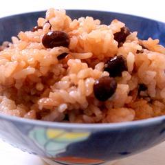 土鍋で作る赤飯